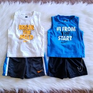 Nike Tank/Short Sets Size 12-18 Months